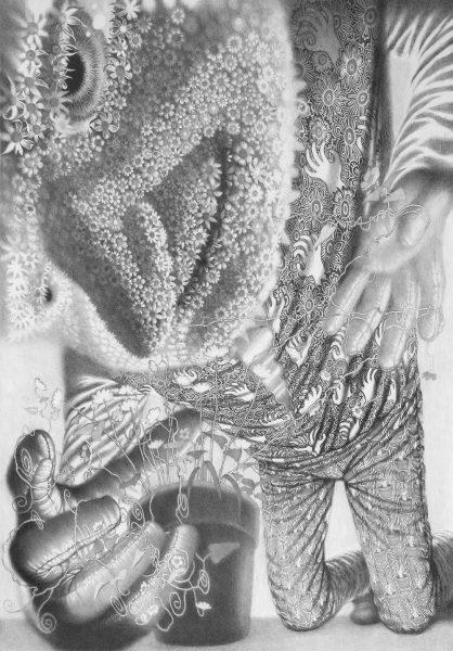 Only Good Memories, 2018, mine de plomb sur papier, 140 x 100 cm